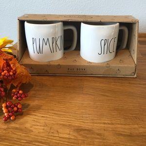Rae Dunn PUMPKIN SPICE mug set